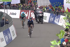 Video: Hirt dojel druhý v etapě na Tour of the Alps